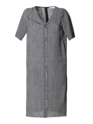 Golden Goose: knee length dresses - Luciana Prince of Wales wool dress