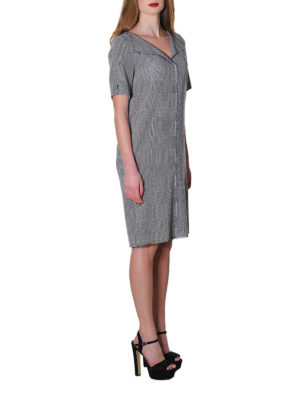 Golden Goose: knee length dresses online - Luciana Prince of Wales wool dress