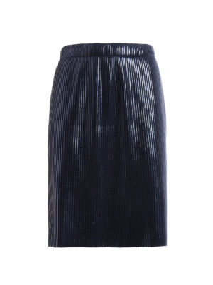 Golden Goose: Knee length skirts & Midi - Goldie pleated metallic skirt