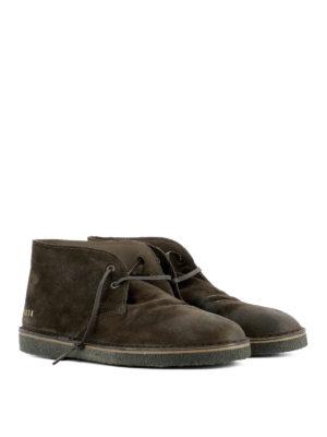 Golden Goose: lace-ups shoes online - Brown suede City desert boots