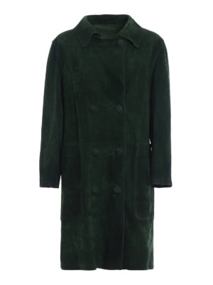 Golden Goose: leather coats - Nives ovine leather reversible coat