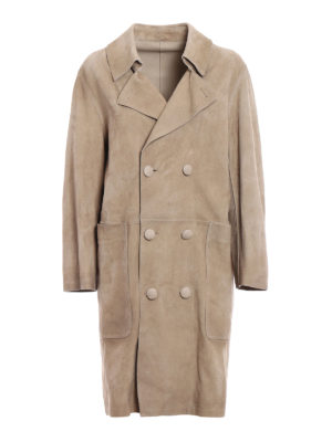 Golden Goose: leather coats - Nives suede reversible coat