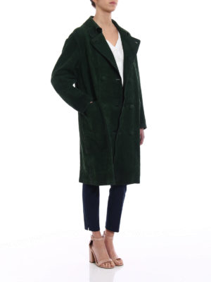 Golden Goose: leather coats online - Nives ovine leather reversible coat