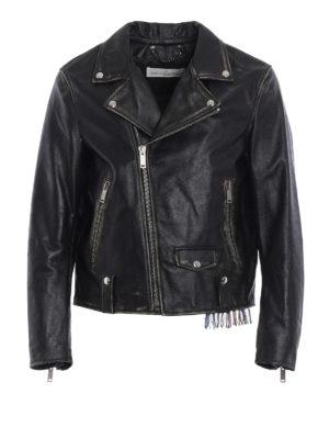 Golden Goose: leather jacket - Biker-inspired leather jacket