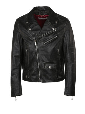 Golden Goose: leather jacket - Chiodo Golden calf leather jacket