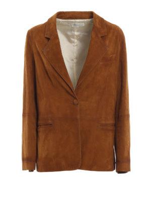 GOLDEN GOOSE: giacche in pelle - Giacca in pelle scamosciata Ermada
