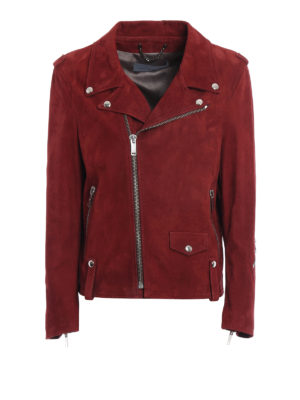 Golden Goose: leather jacket - Golden suede jacket