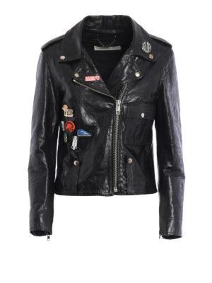 Golden Goose: leather jacket - Mini Chiodo sheep leather jacket
