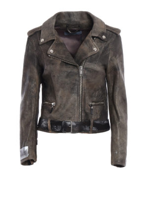 Golden Goose: leather jacket - Mini Chiodo sheep leather jacket