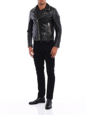 Golden Goose: leather jacket online - Biker-inspired leather jacket