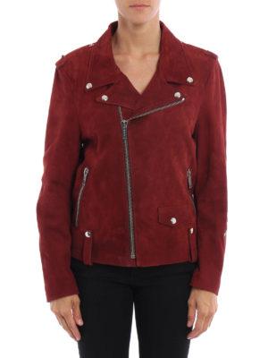 Golden Goose: leather jacket online - Golden suede jacket