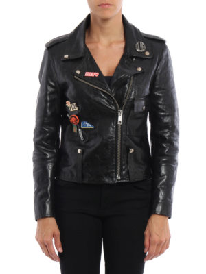 Golden Goose: leather jacket online - Mini Chiodo sheep leather jacket