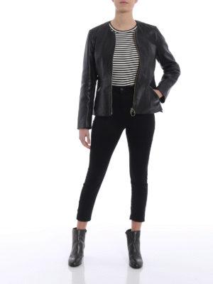Golden Goose: leather jacket online - Santana leather jacket