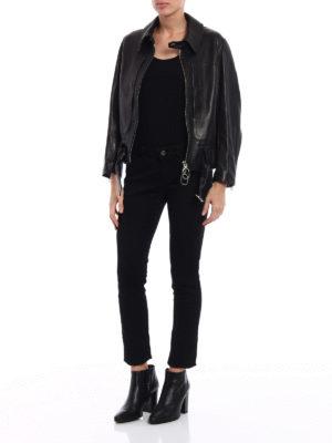 Golden Goose: leather jacket online - Vania soft leather jacket