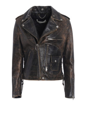 Golden Goose: leather jacket - Pearl putto leather jacket
