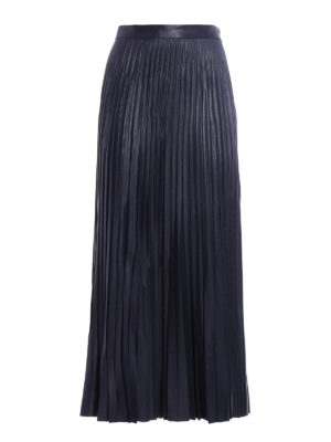 Golden Goose: Long skirts - Liza laminated and pleated skirt