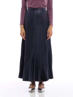 Golden Goose: Long skirts online - Liza laminated and pleated skirt