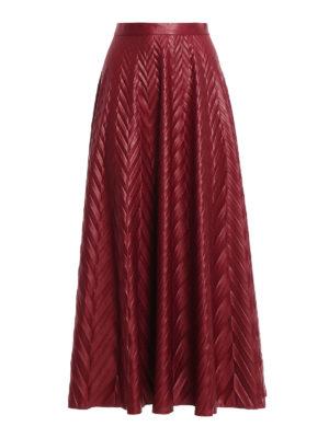 Golden Goose: Long skirts - Zephir embossed maxi skirt