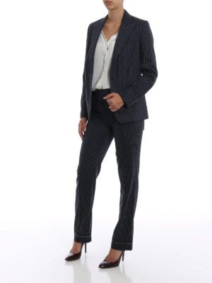 GOLDEN GOOSE: giacche blazer online - Blazer Venice in lana e seta gessato