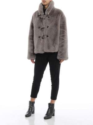 GOLDEN GOOSE: Pellicce e montoni online - Eco pelliccia corta in stile montgomery