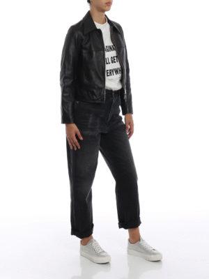 GOLDEN GOOSE: giacche in pelle online - Giubbotto Mira in pelle