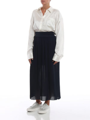 GOLDEN GOOSE: Gonne Lunghe online - Gonna Hamal in chiffon plissé