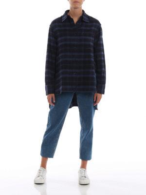 GOLDEN GOOSE: camicie online - Camicia Ripa in flanella di cotone tartan
