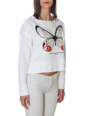 GOLDEN GOOSE: Felpe e maglie online - Felpa Golden con stampa farfalla