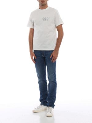 GOLDEN GOOSE: t-shirt online - T-shirt in jersey di cotone con logo