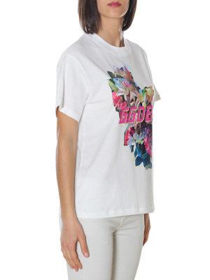 GOLDEN GOOSE: t-shirt online - T-shirt Golden con stampa fiori