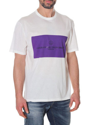 GOLDEN GOOSE: t-shirt online - T-shirt Golden con stampa viola