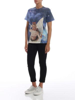 GOLDEN GOOSE: t-shirt online - T-shirt Hydra con stampa galassia