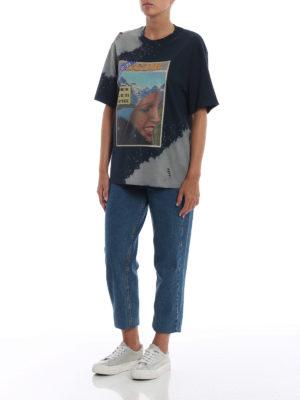 GOLDEN GOOSE: t-shirt online - T-shirt Leo con stampa settimanale vintage