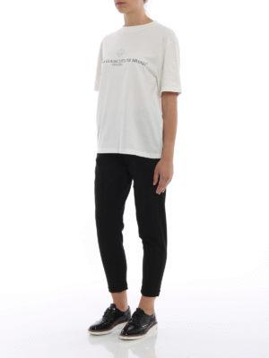 GOLDEN GOOSE: t-shirt online - T-shirt oversize con logo lettering