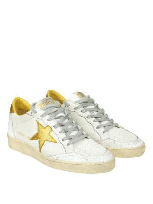GOLDEN GOOSE: sneakers online - Ball Star con inserti in glitter dorato