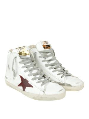 GOLDEN GOOSE: sneakers online - Sneaker alte Francy inserto dorato