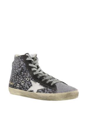 GOLDEN GOOSE: sneakers online - Sneaker Francy in glitter animalier