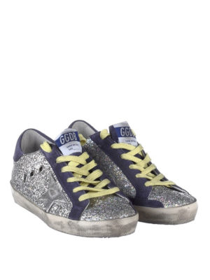 GOLDEN GOOSE: sneakers online - Sneaker Superstar in pelle glitter