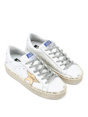 GOLDEN GOOSE: sneakers online - Sneaker Hi Star pelle bianca con maxi suola