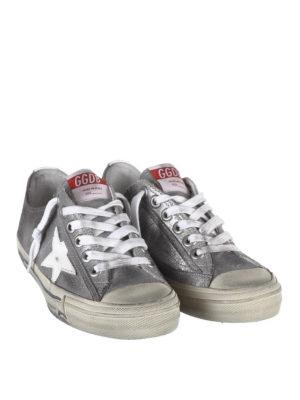 GOLDEN GOOSE: sneakers online - Sneaker V-Star2 in pelle glitterata