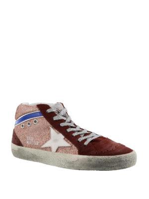 GOLDEN GOOSE: sneakers online - Sneaker Mid Star in glitter e suede