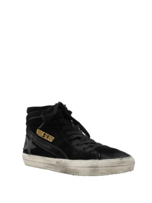GOLDEN GOOSE: sneakers online - Sneaker alte Slide in suede con effetto used
