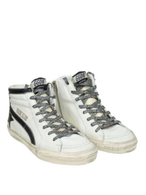 GOLDEN GOOSE: sneakers online - Sneaker Slide in pelle bianca