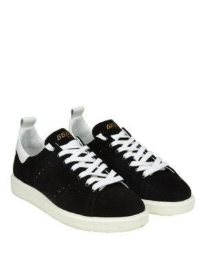 GOLDEN GOOSE: sneakers online - Sneaker Starter in camoscio nero