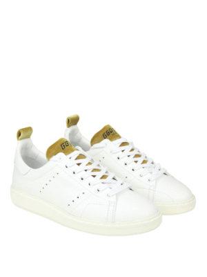 GOLDEN GOOSE: sneakers online - Sneaker Starter in pelle inserti in velluto
