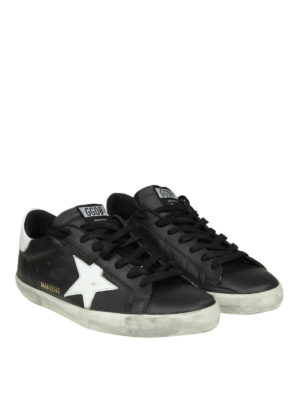 GOLDEN GOOSE: sneakers online - Sneaker Superstar in pelle nera
