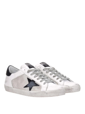 GOLDEN GOOSE: sneakers online - Sneaker Superstar con dettagli in pelle