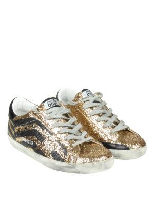 GOLDEN GOOSE: sneakers online - Sneaker Superstar motivo chevron glitterato