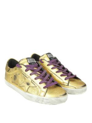 GOLDEN GOOSE: sneakers online - Sneaker Superstar in pelle dorata