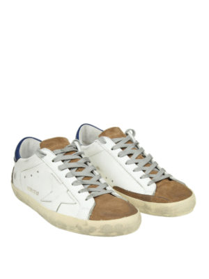 GOLDEN GOOSE: sneakers online - Sneaker Superstar in pelle e camoscio